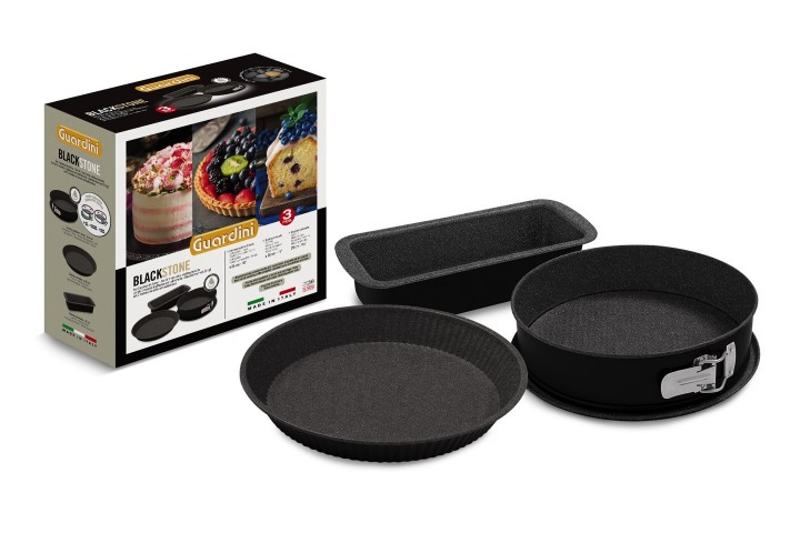 Set of 3 non-stick coating moulds BLACK STONE