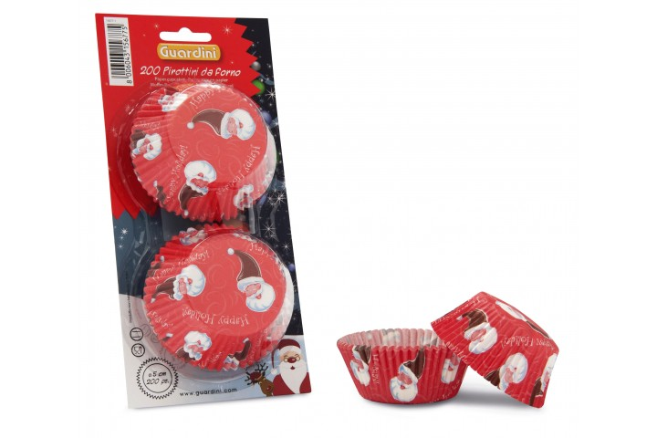 Set 200 paper cupcakes Christmas