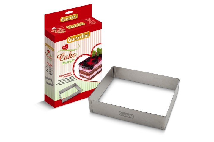 Rectangular extendable cake ring