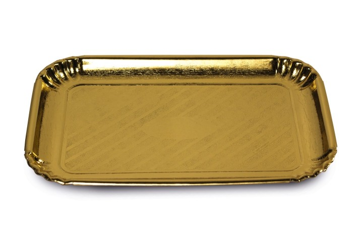Golden paper tray