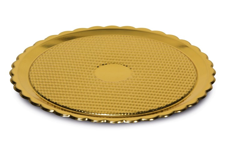 Plastic golden tray