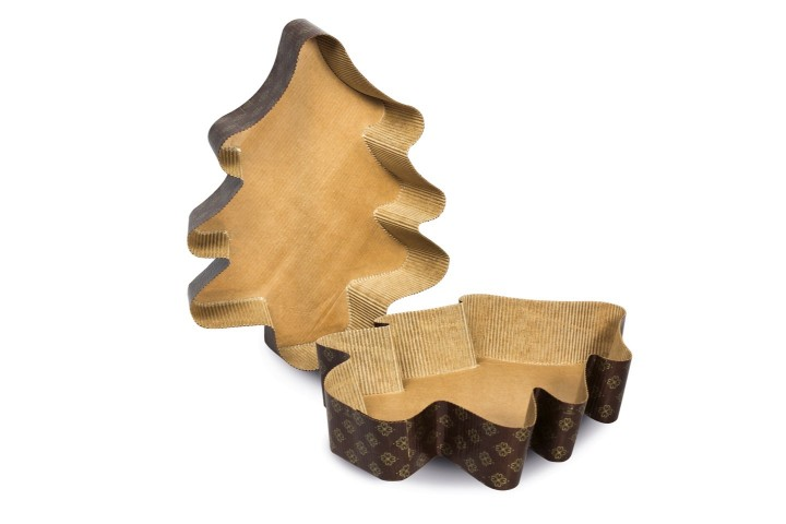 Christmas tree paper baking mould