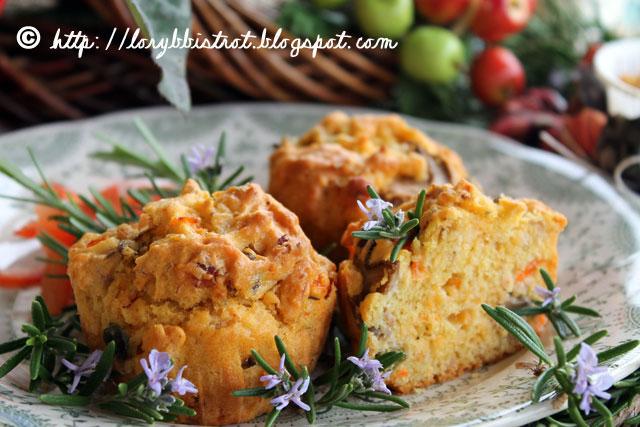 Muffins con funghi e prosciutto