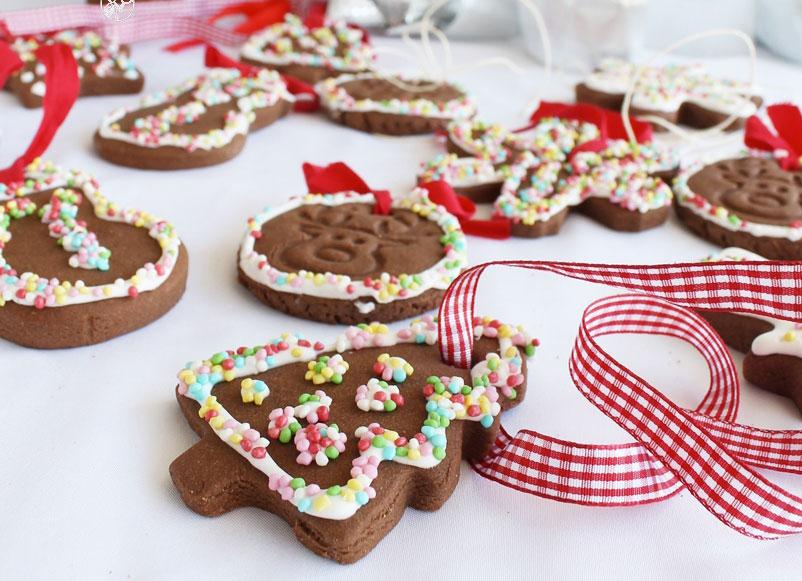 Biscotti natalizi al cacao senza glutine