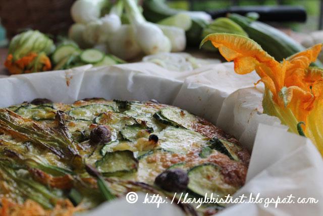 Frittata al forno con Fiori e Zucchine novelle