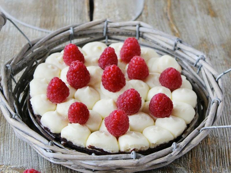 Torta mascarpone & lamponi