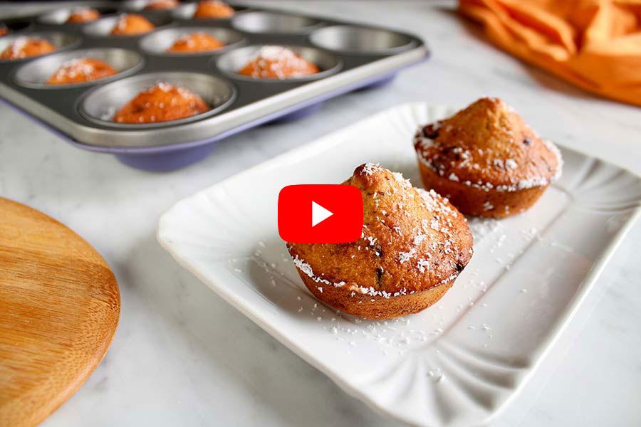Muffin al cocco e cioccolato