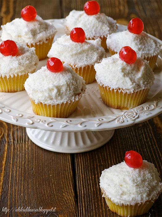 Cupcake al cocco e ananas