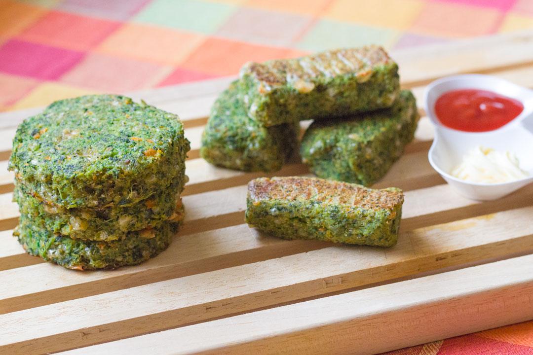 Frittelle di broccoli al forno (Frittelle di Shrek)