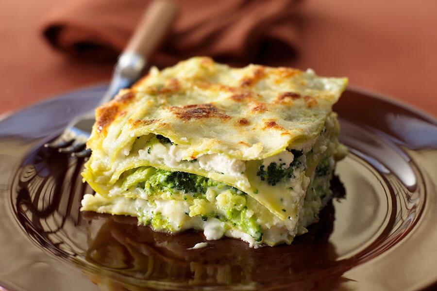 Lasagne con broccoli e cavolo romanesco