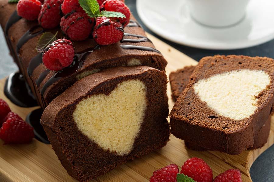 Plum-cake marbré